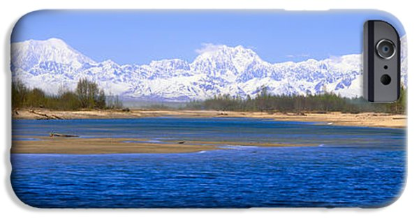 Mountain iPhone Cases - Susitna River And Mount Mckinley, Alaska iPhone Case by Panoramic Images