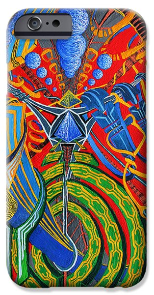 Mechanism Paintings iPhone Cases - Suspended Enigma iPhone Case by Maxwell Hanson