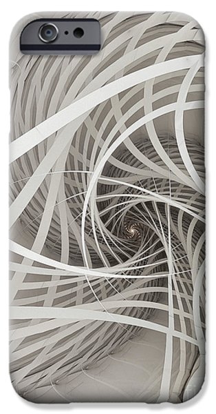 Three Sizes iPhone Cases - Suspension Bridge-Fractal Art iPhone Case by Karin Kuhlmann