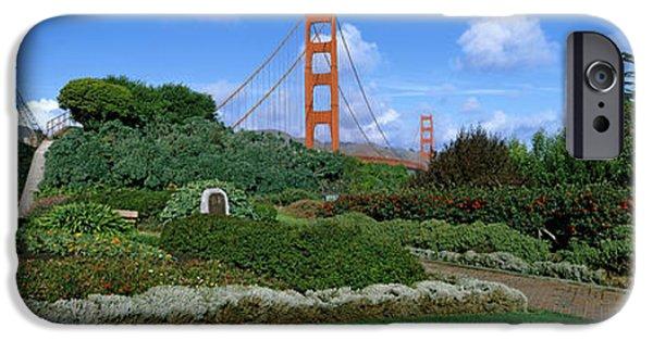 Bay Bridge iPhone Cases - Suspension Bridge, Golden Gate Bridge iPhone Case by Panoramic Images