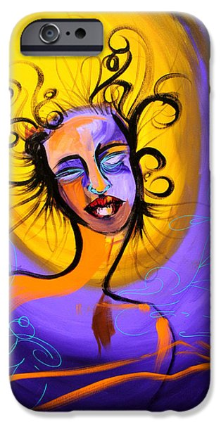 Spiritual Portrait Of Woman Mixed Media iPhone Cases - Suspension iPhone Case by Demostina of Demo Graph Phonics