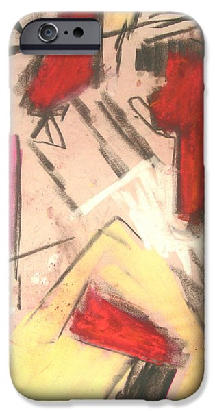 Abstract Expressionist Pastels iPhone Cases - Suspensions iPhone Case by  Tolere