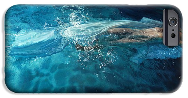 Angel Mermaids Ocean iPhone Cases - Susperia iPhone Case by Mia Tavonatti
