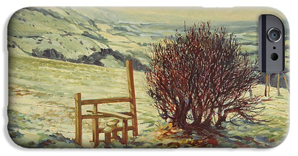 Snow Scene iPhone Cases - Sussex Stile, Winter, 1996 iPhone Case by Robert Tyndall