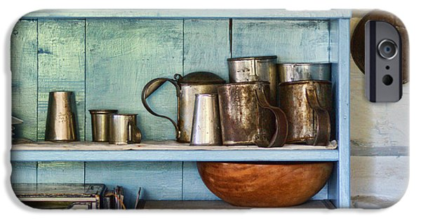 Wooden Bowls iPhone Cases - Sutler Store - Shelves - Wares iPhone Case by Nikolyn McDonald