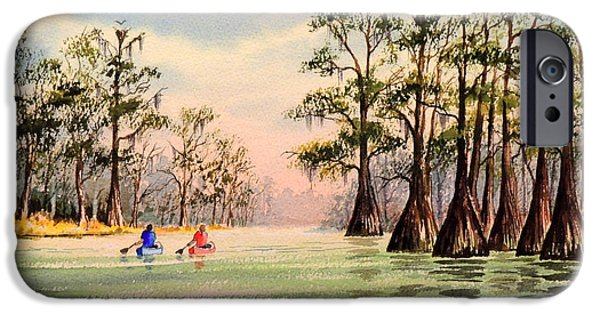 Canoeing iPhone Cases - Suwannee River iPhone Case by Bill Holkham