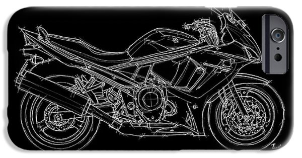 Suzuki iPhone Cases - Suzuki GSX 650F - 2011 iPhone Case by Pablo Franchi