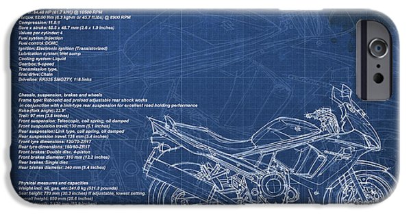 Suzuki iPhone Cases - Suzuki GSX 650F 2011 Technical Information iPhone Case by Pablo Franchi