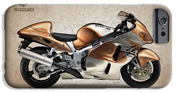 Suzuki iPhone Cases - Suzuki Hayabusa 1999 iPhone Case by Mark Rogan