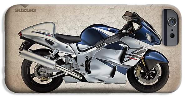 Suzuki iPhone Cases - Suzuki Hayabusa 2005 iPhone Case by Mark Rogan