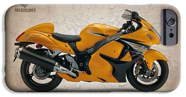 Suzuki iPhone Cases - Suzuki Hayabusa 2014 iPhone Case by Mark Rogan
