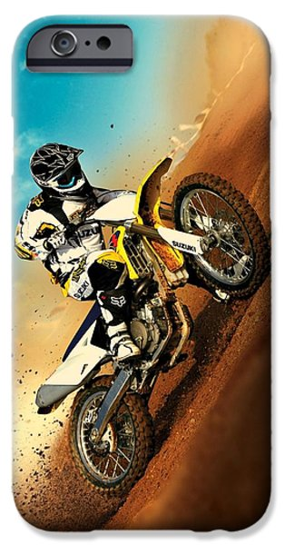 Suzuki iPhone Cases - Suzuki Hill Climb iPhone Case by Movie Poster Prints