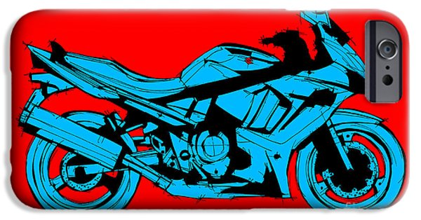 Suzuki iPhone Cases - Suzuki Red and Blue iPhone Case by Pablo Franchi