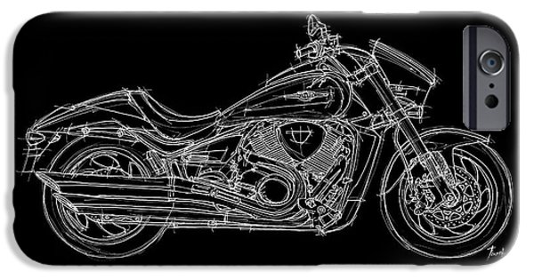 Suzuki iPhone Cases - Suzuki VZR 1800 - 2011 iPhone Case by Pablo Franchi