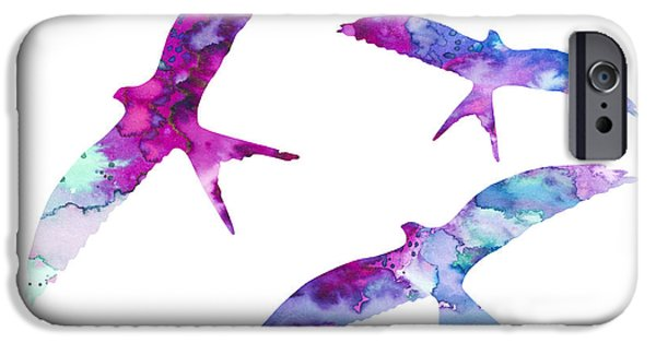 Swallows iPhone Cases - Swallows iPhone Case by Luke and Slavi