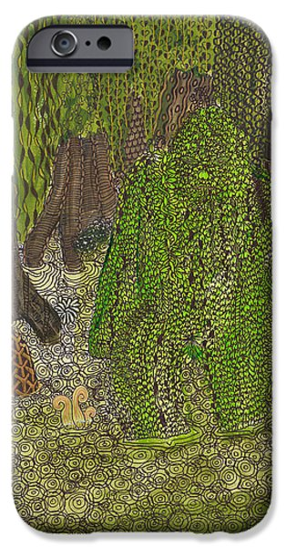Mounds iPhone Cases - Swamp Monster iPhone Case by Rebecca Klingbeil