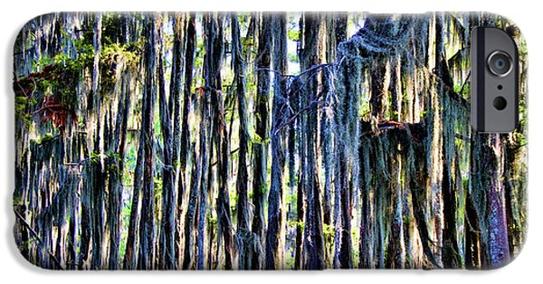 Caddo Lake iPhone Cases - Swamp Moss iPhone Case by Lana Trussell