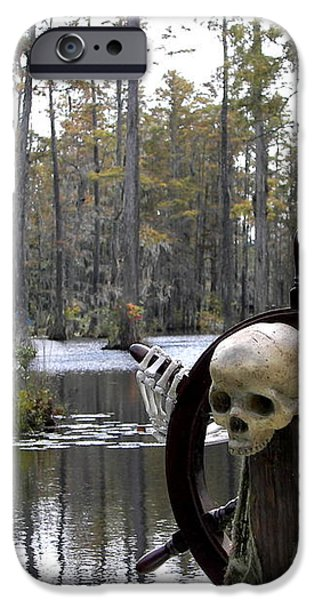 Swamp Pirate iPhone Case by KAREN WILES
