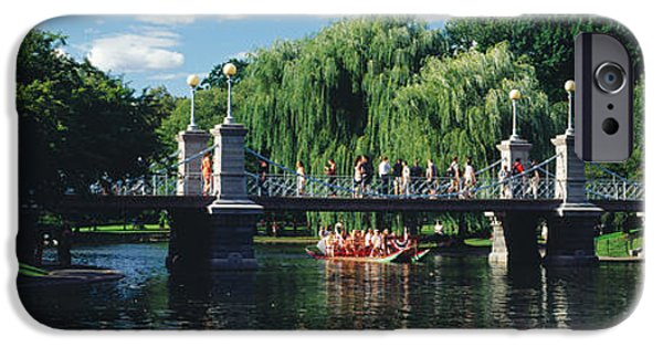 Recently Sold -  - Connection iPhone Cases - Swan Boat In The Pond At Boston Public iPhone Case by Panoramic Images