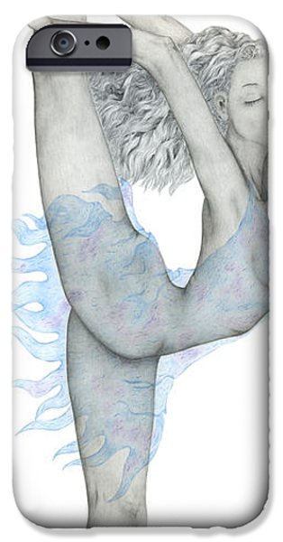 Ballet Dancers iPhone Cases - Swan. iPhone Case by Kenneth Clarke