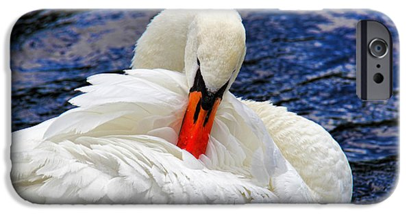 Swans... iPhone Cases - Swan Lake iPhone Case by Mariola Bitner