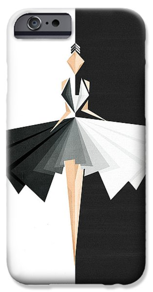 Abstract Fashion Art iPhone Cases - Swan Lake iPhone Case by VessDSign