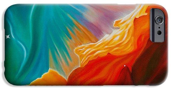 Star Nursery Paintings iPhone Cases - Swan Nebula iPhone Case by Barbara McMahon