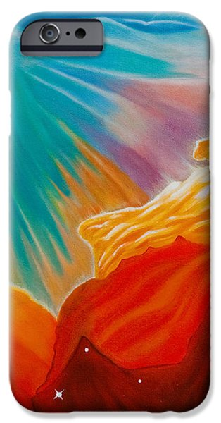 Swan Nebula iPhone Case by Barbara McMahon