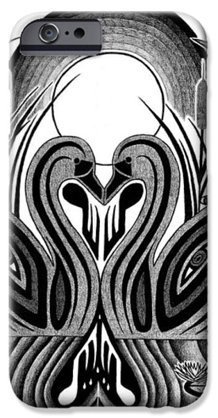 SWAN SONG  iPhone Case by Barb Cote