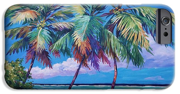 Cuba iPhone Cases - Swaying Palms  iPhone Case by John Clark