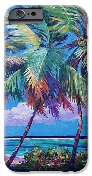 Swaying Palms  iPhone Case by John Clark