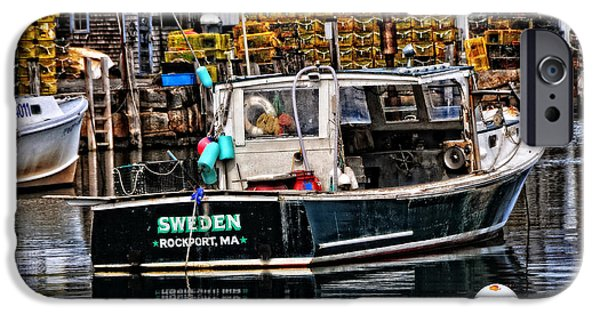 Rockport Ma iPhone Cases - Sweden in the USA iPhone Case by Mike Martin