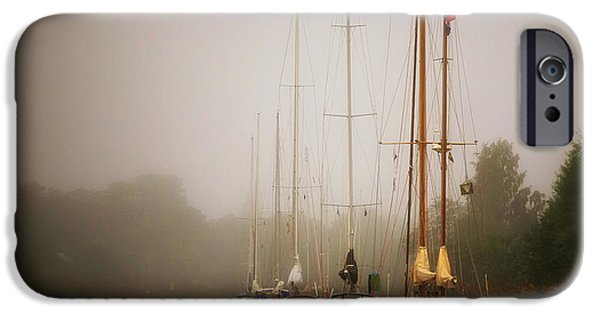 Tall Ship iPhone Cases - Swedish Fog Bank iPhone Case by Pixabay