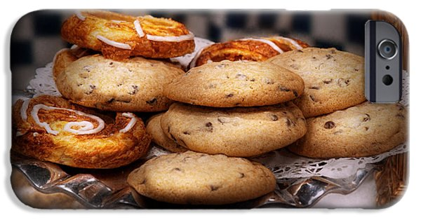 Chip iPhone Cases - Sweet - Cookies - Cookies and Danish iPhone Case by Mike Savad