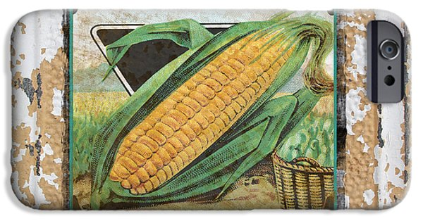 Sweet Corn iPhone Cases - Sweet Corn on Vintage Tin iPhone Case by Jean Plout