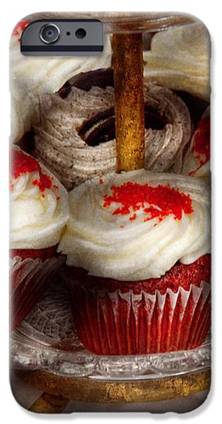 Sweet - Cupcake - Red velvet cupcakes  iPhone Case by Mike Savad