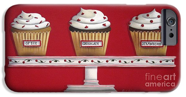 Catherine White Paintings iPhone Cases - Sweet Delights iPhone Case by Catherine Holman