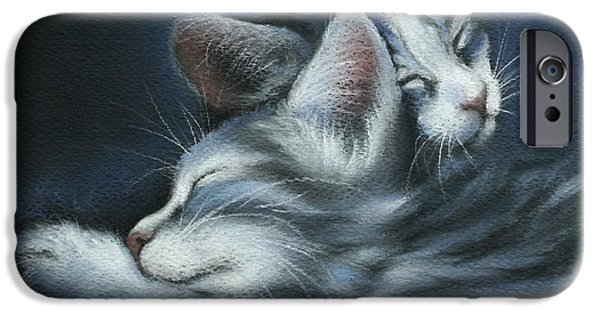 Kittens iPhone Cases - Sweet Dreams iPhone Case by Cynthia House