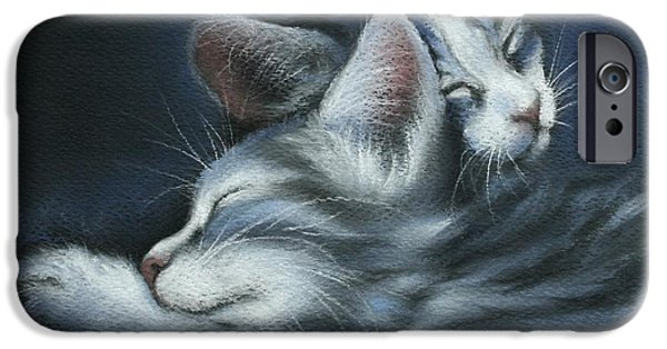 Animal Pastels iPhone Cases - Sweet Dreams iPhone Case by Cynthia House