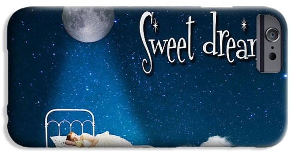 Slumber iPhone Cases - Sweet Dreams iPhone Case by Juli Scalzi