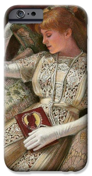 Book Pastels iPhone Cases - Sweet Dreams iPhone Case by Sue Halstenberg