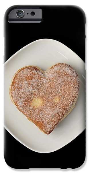 Jelly Donut iPhone Cases - Sweet heart iPhone Case by Matthias Hauser