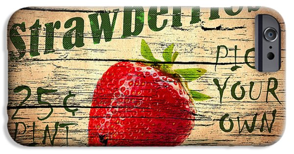 Juice iPhone Cases - Sweet Juicy Strawberries iPhone Case by Mark Rogan