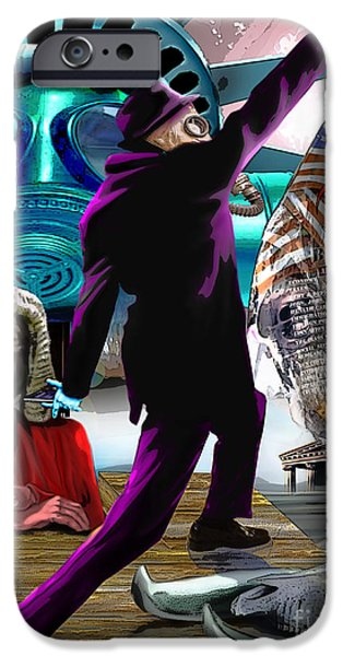 Statue Of Liberty Paintings iPhone Cases - Sweet Land of Liberty iPhone Case by Reggie Duffie