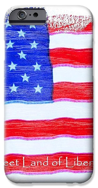 Fourth Of July iPhone Cases - Sweet Land of Liberty iPhone Case by Robert ONeil