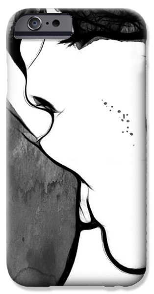 Lips Mixed Media iPhone Cases - Sweet Love Two iPhone Case by Stefan Kuhn