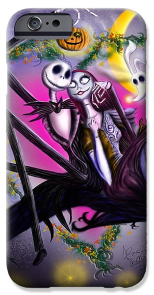 Sweet loving dreams in Halloween night iPhone Case by Alessandro Della Pietra