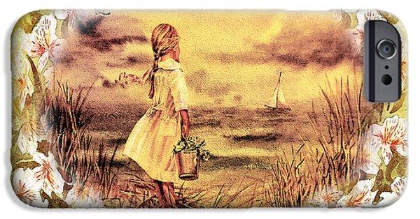 Sailboat Ocean iPhone Cases - Sweet Memories A Trip To The Shore iPhone Case by Irina Sztukowski