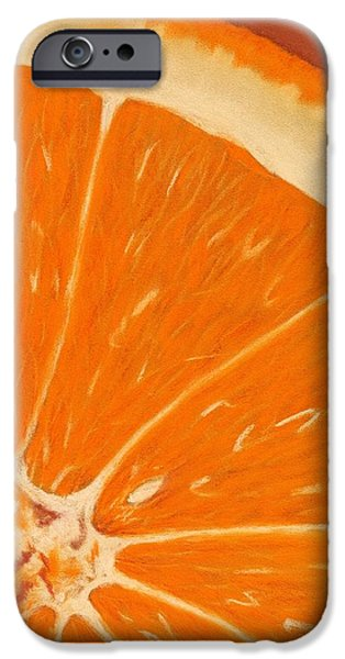 Close Pastels iPhone Cases - Sweet Orange iPhone Case by Anastasiya Malakhova