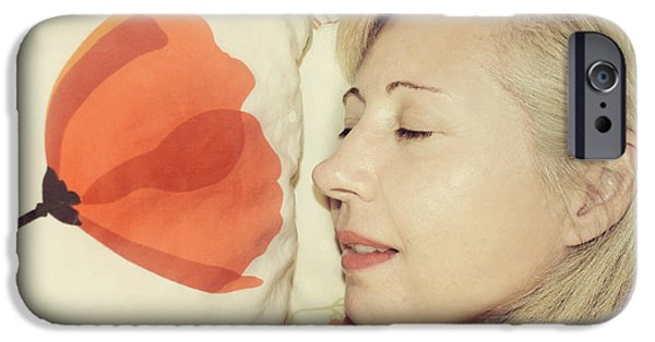 Self Portrait Photographs iPhone Cases - Sweet Poppy Dreams iPhone Case by Laurie Search
